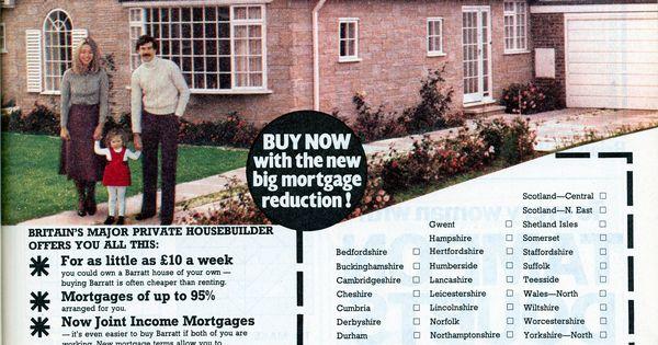 Barratt Homes 1977 1970s Advert Magazine Vintage Advertising With