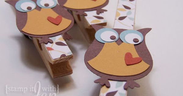 Owl clothes pin clips.