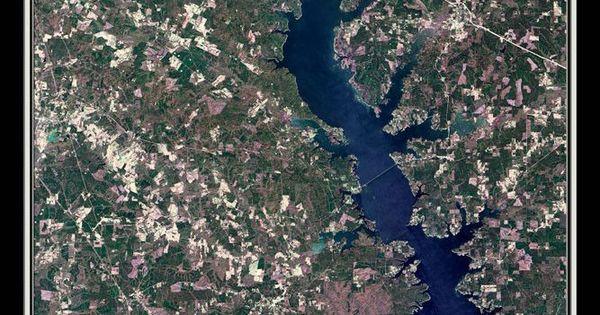 Toledo bend lake texas louisiana satellite poster map for Toledo bend fishing map