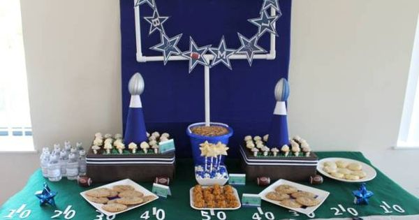 Football Amp Dallas Cowboy Dessert Table Football Food