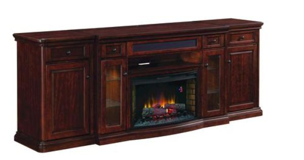 Devondale Electric Media Fireplace At Menards Wall 2