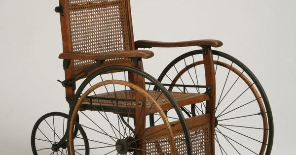 antique wheelchair  144: Vintage oak and cane wheelchair : Lot 144 ...