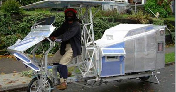 Man Lives In His Homemade Bike Trailer For 30 Years Bike