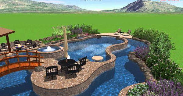 Backyard Lazy River Creative Custom Inspiration Design