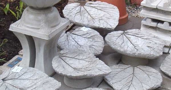 gartendeko aus beton selber machen 28 sch ne ideen gardening pinterest beton bl tter. Black Bedroom Furniture Sets. Home Design Ideas