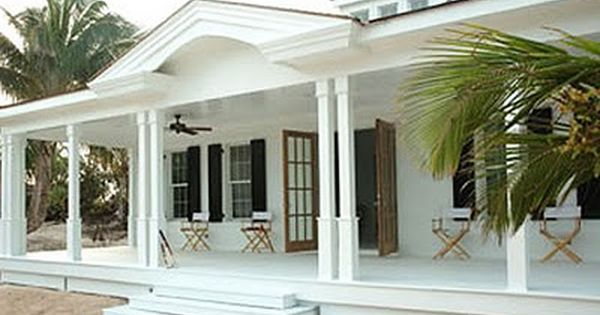 Lovely House In The Caribbean With Large Porch With