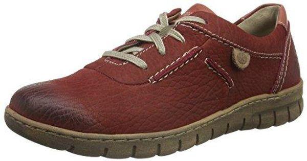 Josef SeibelSteffi Son 07 - Zapatos Planos con Cordones Mujer, Color Rojo, Talla 42 UE