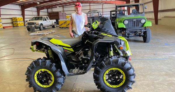 Congratulations To Danny Atchley From Louin Ms For Purchasing A 2021 Can Am Renegade Xmr 1000r At Hattiesburg Cycles Canam Hattiesburg Monster Trucks Can Am