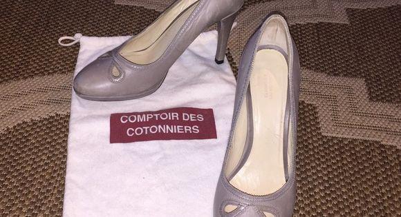 Comptoir De Cotonniers Heels Leather Heels Neutral Shoes Heels
