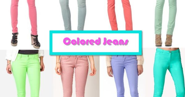 Colorful Skinny Jeans Outfits | fashionstar.xyz | Pinterest ...