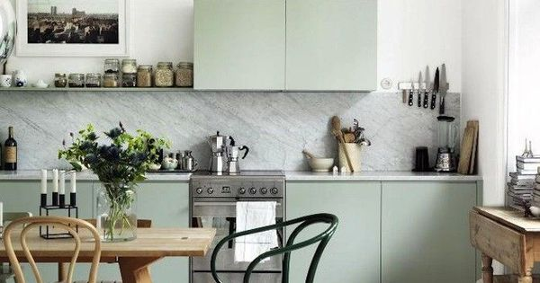 35 ways to use sage green green cabinets green kitchen for Bentwood kitchen cabinets