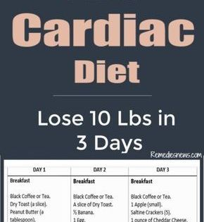 3 Day Cardiac Diet Lose 10 Pounds In 3 Days With Heart Healthy