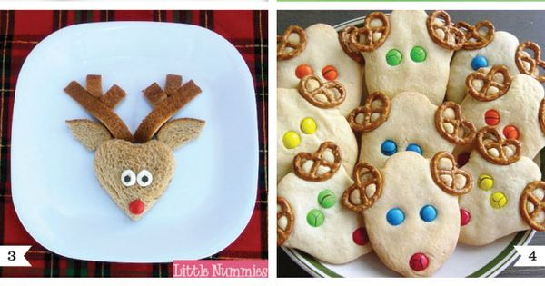 Reindeer cookies, cupcakes other Christmas treats ideas.