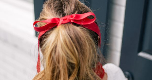 Gal Meets Glam Holiday Red High Pony Tail Amp Red Ribbon