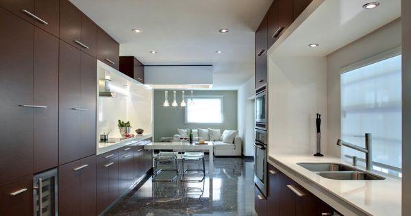 Modren Modern Architecture Kitchen Design Red Unit With Stainless