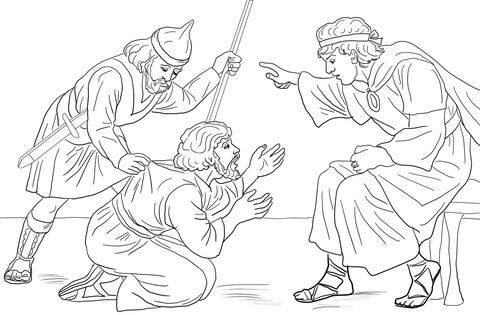 Unforgiving Servant Parable Coloring Page Bible Coloring Pages