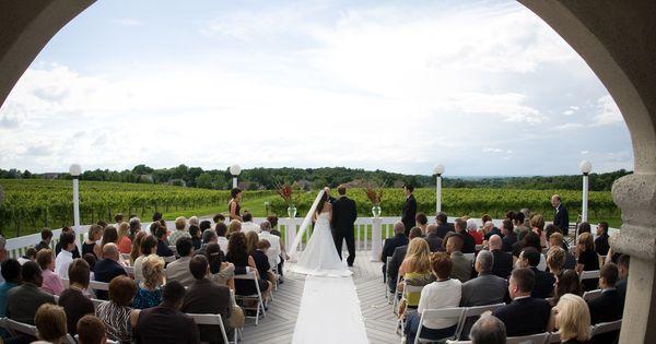 Wedding Ceremony At Casa Larga Vineyards On The Deck