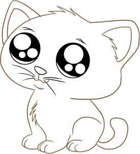 Ein Katzchen Zeichnen Dekoking Katze Cartoon Zeichnung Katze Zeichnen Cartoon Tiere Zeichnen