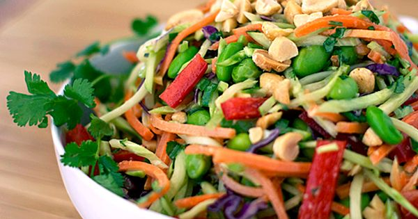 Rainbow Asian Slaw ~ Heat Oven to 350 | Delicious Asian slaw