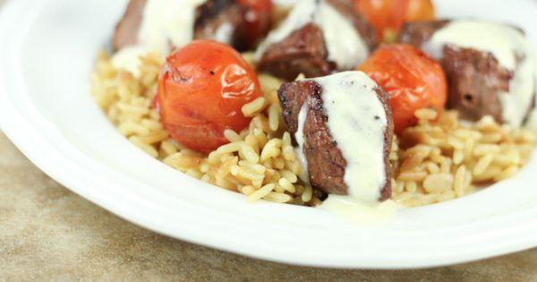 Beef Tenderloin Filet Skewers with Dubliner Cheese Sauce ...