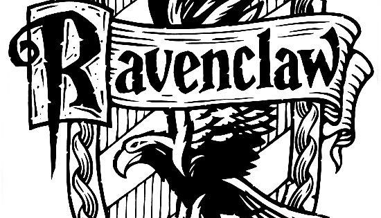 ravenclaw crest coloring page