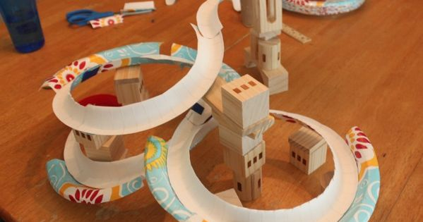 How to Make a Paper Plate Marble Track. Super fun, easy, and