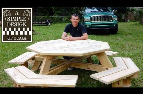 Building Your Own Octagon Picnic Table Plans - Free DIY ...