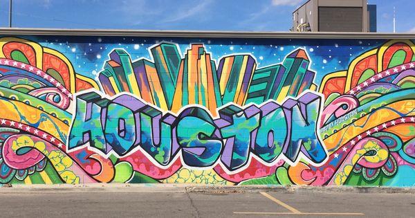 Downtown houston mural wall graffiti my houston pinterest houston murals mural wall and - Wandsticker graffiti ...