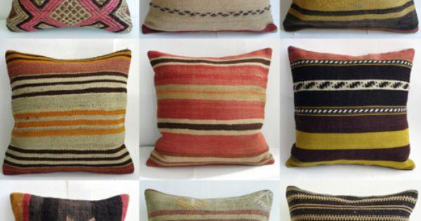 antique turkish lilim pillows via poppytalk