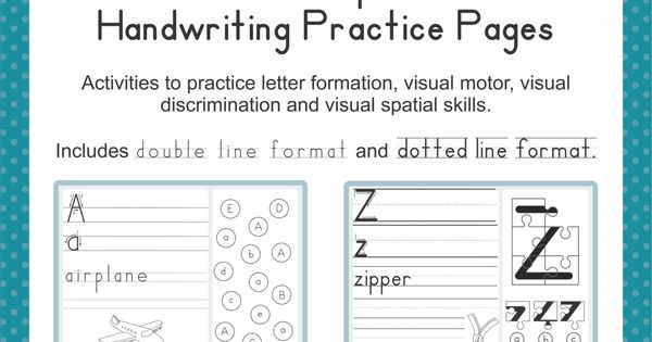 visual perceptual and handwriting practice pages pediatric occupational therapy pinterest. Black Bedroom Furniture Sets. Home Design Ideas
