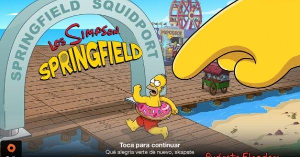 Ultima Version De Los Simpson Springfield Mod Con El Que Dispondremos De Dinero Infinito Donuts Infinitos Y Más Para Poder Insta The Simpsons Simpson Android