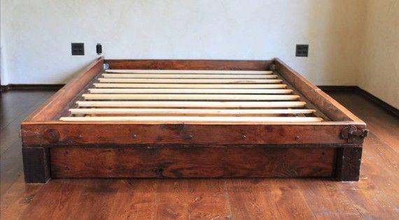 Reclaimed Wood Platform Bed Furni Pinterest Platform