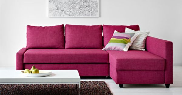 Friheten Corner Sofa Bed Skiftebo Cerise Ikea Ikea Sofa Bed Ikea Sofa Pink Living Room Furniture