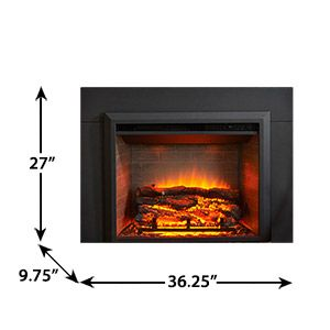 Greatco 29 Plug In Electric Fireplace 36 Surround Trim Gi 29 Is 36 Greatco Electric Fireplace Insert Built In Electric Fireplace Fireplace Inserts