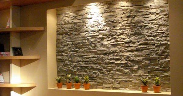 Ejemplos de muros y paredes con piedra decorativa atz - Piedra decorativa para paredes ...