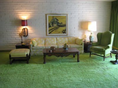 The Same Green Carpet As My Childhood House My Friends All Called It The Green Room 70s Decor Dream Living Room Modern Green Carpet