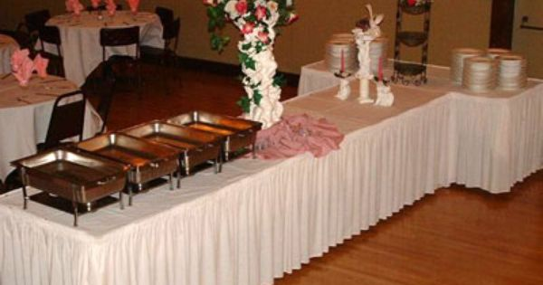 Excellent Buffet Table Set Up Shirred Pleat Skirting Entertaining Interior Design Ideas Gentotryabchikinfo