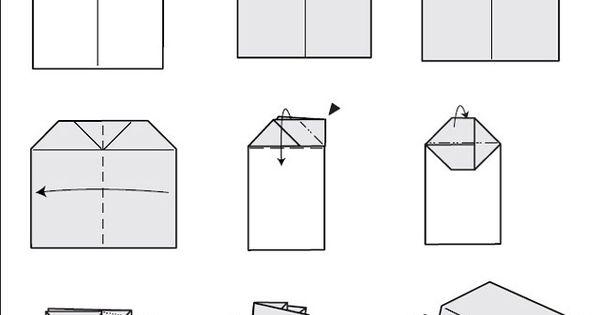 diagramme d 39 origami d 39 avion planeur en papier mod le carr enfants origami pinterest. Black Bedroom Furniture Sets. Home Design Ideas