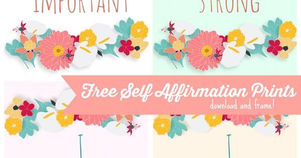 Free Self Affirmation Printables: Print some Positivity ...