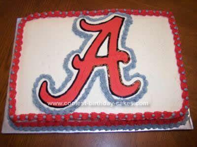 Miraculous Coolest Alabama Crimson Tide Emblem Cake Alabama Birthday Cakes Personalised Birthday Cards Veneteletsinfo