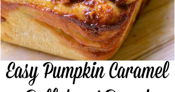 Easy Pumpkin Caramel Pull Apart Bread is super easy to make and
