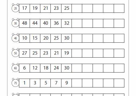 standard number pattern tutoring pinterest number patterns math and worksheets. Black Bedroom Furniture Sets. Home Design Ideas