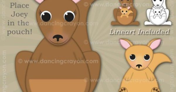 Kangaroo Clip Art And Joey Kangaroo Clip Art Art And Craft Videos Arts And Crafts For Teens Arts And Crafts For Kids