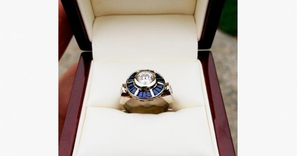 R2D2 Inspired Engagement Ring