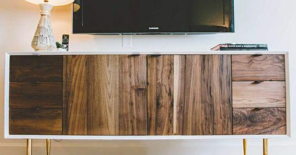 meuble en bois fonc massif meuble t l meuble tv avec. Black Bedroom Furniture Sets. Home Design Ideas