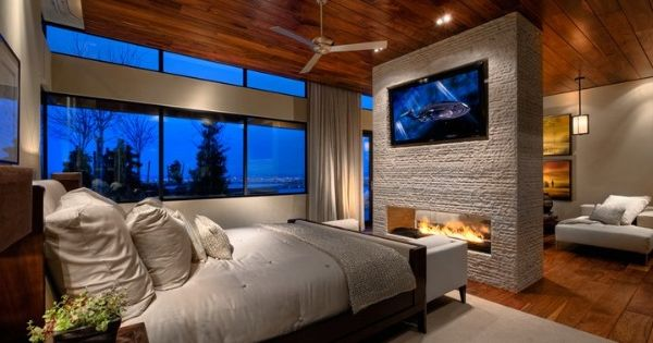 Double Sided Fireplace Master Bedroom Pinterest
