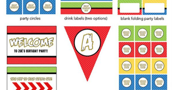 Angry Birds Birthday Party Printable! Party banners