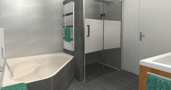 3d visualisatie badkamer su casa interieuradvies projecten projects su casa - Betegelde badkamer ontwerp ...
