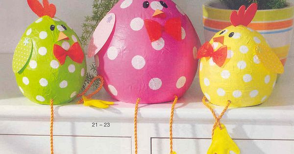 easter chicken basteln mit kindern im fr hling und zu ostern ostern kiga pinterest eier. Black Bedroom Furniture Sets. Home Design Ideas