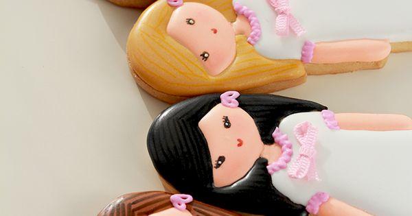Postreadicción galletas decoradas, cupcakes y pops: Más galletas de comunión //Nadie se